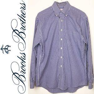 Brooks Brothers | Blue & White Gingham Dress Shirt